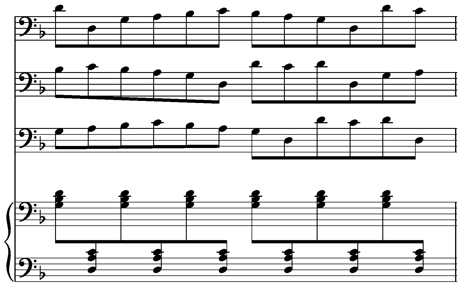A course in postminimalism one can easily see the relationship to piano phase another piece based on a twelve note tune that goes out of phase with itself though the results here hexwebz Image collections